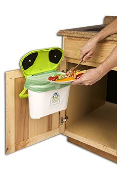 Kitchen Compost Caddy under sink mounted compost system K... https://smile.amazon.com/dp/B00BJW4FXG/ref=cm_sw_r_pi_dp_x_S56KybVX80NWF