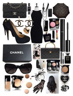 """Le Coco Chanel 👛"" by lilyalicewalker ❤ liked on Polyvore featuring Chanel, Casetify, Lumière and Mascara"