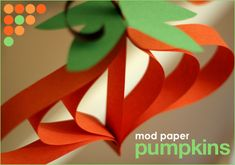 DIY+Craft:+Paper+Pumpkin+Ornaments