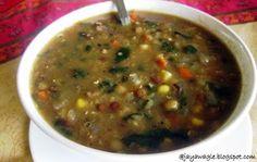 Three lentil vegetable soup