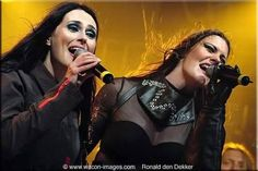 Sharon Den Adel (Within Temptation) & Floor Jansen (Nightwish)