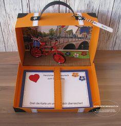 Reisekoffer Koffer Amsterdam Geschenkgutschein Geldgeschenk Reise Geburtstag Städtereise