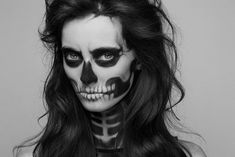 skeleton face make up