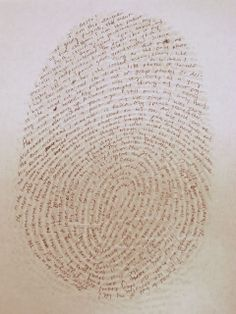Chocolate on my Cranium: Creative Writing Day 10: About Me Fingerprint