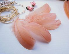 10 Natural caramel color feathers 6-7 inch - Cinamon colour quills -  Mocha brown feathers - Natural feathers - Craft feathers