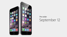 Pre-order your iPhone6 starting September 12.