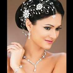 Floral Filigree haircomb & necklace
