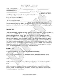 Real Estate Development Agreement Template Contract With Sample - Contract for sale of property template