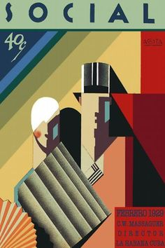 cuban deco inspired illustration/design