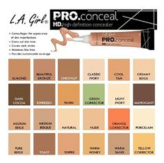 A Girl pro conceal (HD concealer) all shades available. Cream Concealer, Contouring, Swatch, Covering Dark Circles, Waterproof Concealer, Even Out Skin Tone, Perfume, Shopping, Makeup Tips