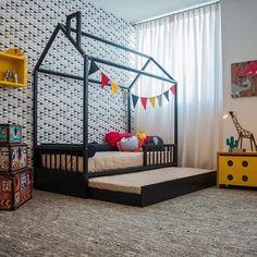Resultado de imagem para cama montessoriana com cama auxiliar