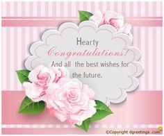 A beautiful congrats card.