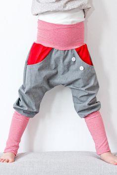 Knickerbocker rot - petit cochon - Kinderkleidung, die mitwächst. Handarbeit aus Berlin!