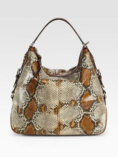 Gucci Village Large Python Hobo Bag
