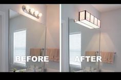 Vanity Light Refresh Conversion Kit : Farmhouse bathrooms, Bathroom makeovers and Ship lap on Pinterest