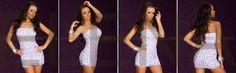 € 23,80 Mini Abito Dancewear sexy a tubino in tessuto con fioritura. Grazie all'elasticità della trama ha una vestibilità perfetta e aderisce maliziosamente alle forme del corpo esaltando le curve della silhouette. Un abito particolarmente sexy e sensuale da indossare nelle occasioni di feste, discoteca, serate, eventi ecc. Taglia unica S/M.  Composizioni:  - Spandex: 5%,  - Viscosa: 95%.  http://www.specialprezzi.com/department/33/Sexy-abbigliamento-ed-accessori.html?oid=1016_6