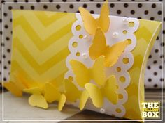 Yellow Pillow Boxes {Free Download}