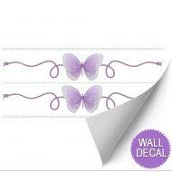 Purple Butterfly Wall Stickers