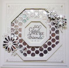 PartiCraft (Participate In Craft) Hexagon Cards, Cosmos Flowers, Dry Well, Sue Wilson, Paper Crafts, Diy Crafts, Crafts Beautiful, You Make Me Happy, Embossing Folder
