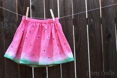 DIY falda estampada sandía