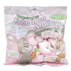 Freedom Strawberry Vegetarian Marshmallows 75g £2.50 vegan