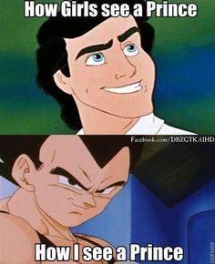 Prince Vegeta is wayyy better than any disney Prince ;D