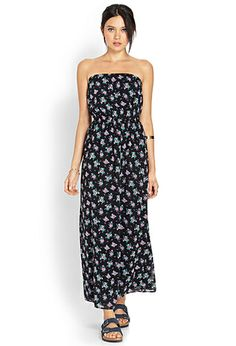 Fresh Florals Maxi Tube Dress | FOREVER21 - 2000088654