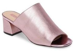 Topshop Women's Notorious Metallic Slide Sandal