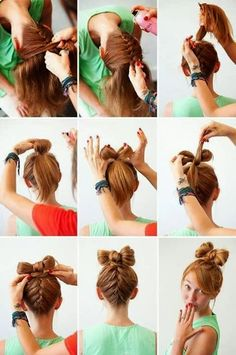 Hair styles tutorials for ladies.......   Yup, just that easy.....if Hermoine is your hairstylist!