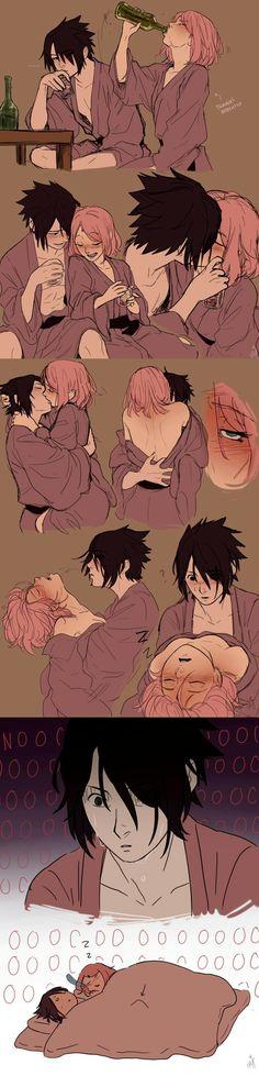Sasuke & Sakura😂❤   Poor Sas remained with an uncomfortable problem in his pants😂 Sasuke Uchiha Sakura Haruno, Naruto Y Boruto, Naruto Cute, Anime Naruto, Anime Manga, Gaara, Kakashi, Naruto Couples, Cute Anime Couples