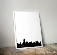 Wedding Guestbook Print - New York City Skyline Guest Book Alternative - Personalized Print in Your Choice of Size