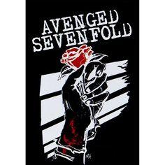 Avenged Sevenfold Death Rosehands Poster Flag (Black)