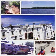 "Check out this great collage by @inababs010 We LOVE how she captioned it ""WARNING: Parents can exhibit childlike behavior "" Nothing like taking the wheel behind a go-kart or zipping around the #Wisconsin River in a jet boat!  #wisconsindells #lovethedells"