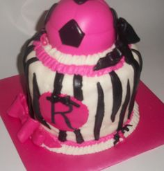 Image detail for -Sugar Girl's Cake Shoppe: Girly Soccer Ball Cake
