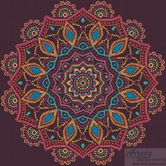 Ornamental Mandala - Cross Stitch Chart - Click Image to Close
