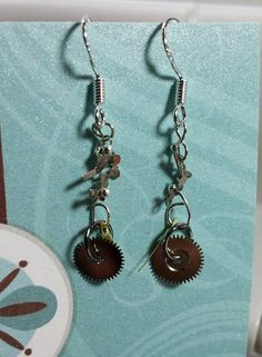 Steampunk Watch Clock Parts Earrings by AbsintheEarrings on Etsy, $22.99