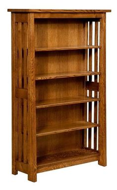 Amish Freemont Mission Open Bookcase The strongest bookcase for your collection of reads, the Freemont is handcrafted in America with solid wood. Choose wood and stain to best match your library or living room. #bookcase #officefurniture