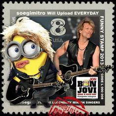 Jon Bon Jovi Minion. See my Despicable Me Minions pins https://www.pinterest.com/search/my_pins/?q=minions