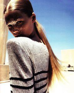 Sparkle reflection | Toni Garn by Knoepfel and Indlekofer  for German Vogue.