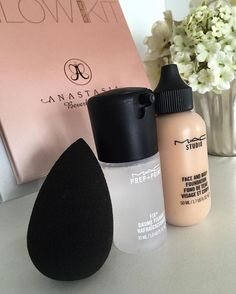 Beauty blenders primers and setting sprays