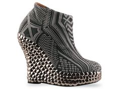 Jeffrey Campbell Eyebrow in Grey Tribal at Solestruck.com