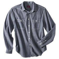 Merona® Men's Tailored Fit Chambray Button Down - Boy Blue Denim Button Up, Button Up Shirts, Down Boy, Boy Blue, Work Shirts, Chambray, Dapper, Work Wear, Shirt Dress