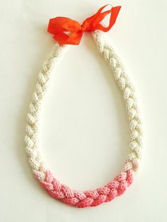 DIY: rope necklace dip dyed.
