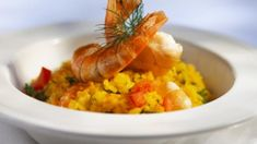 Risotto Au Chorizo, Turmeric, Shrimp, Food And Drink, Rice, Gluten Free, Cooking, Ethnic Recipes, Sin Gluten