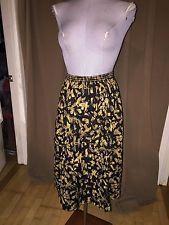 Liberty of London INCREDIBLE black gold paint brush strike ethnic print skirt S