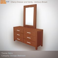 Retro Cherry Dresser and Vanity  #tuesday #retro #furniture #dresser #vanity #interior #design #interiordesign #beautiful #elegant #decor #interiordecor #livingroom #home #homes #instadaily #instagood #inspo #inspiration #3d #game #games #gamer #gaming #videogame #videogames #gamedev #therealyou  Sign up for a free account today at www.egowall.com.