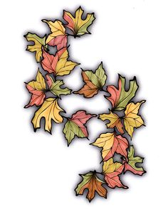 Lovely Leisure Coloring Book | Fall Leaves  Fall Leaves - orange, green, yellow