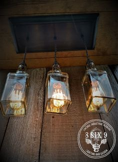 Industrial Triple Whiskey Pendant Lighting with by - All For Decoration Rustic Pendant Lighting, Edison Lighting, Industrial Lighting, Bar Lighting, Decor Industrial, Design Industrial, Kitchen Lighting, Modern Industrial, Lighting Ideas