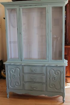 DIY chalk paint for painting dressers for a pop of color to dress up a room (since we can't paint the walls).