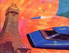 The Futuristic Age of Retro Sci-Fi Science Fiction Art, Pulp Fiction, Asimov Foundation, Trippy, Arte Sci Fi, 70s Sci Fi Art, Spaceship Art, Environment Concept Art, Retro Futurism